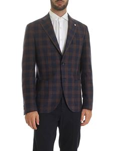 L.B.M. 1911 - Checked jacket in blue and orange