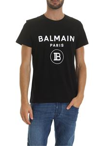 Balmain - Black T-shirt with Balmain Paris logo