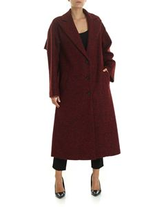 Red Valentino - Bouclé coat in red and black