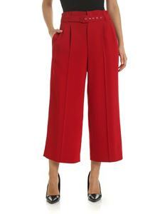 Red Valentino - Red palazzo trousers with belt