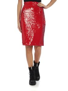 Dondup - Red sequined skirt