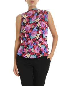 Pinko - Vibrare black top with floral print