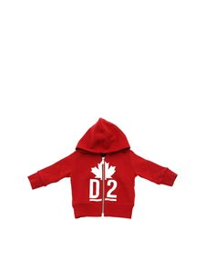 Dsquared2 - Red sweatshirt with white logo print