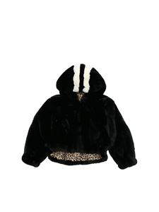 Monnalisa - Reversible black eco-fur
