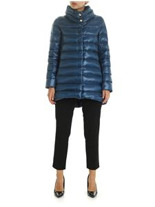 Herno - Iconico Amelia quilted jacket in teal blue color