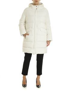 Herno - Long down jacket in white