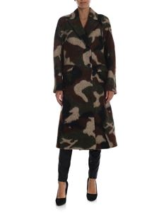 Ermanno Scervino - Double-breasted camouflage coat