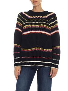 Ermanno Scervino - Black and multicolor striped pullover
