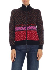 PS by Paul Smith - Cardigan blu con motivo multicolor