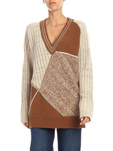 Ballantyne - Beige and brown lamé pullover