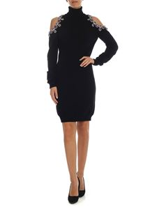 Moschino - Black dress with jewel detail