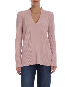 Alberta Ferretti - Pink pullover with mother of pearl buttons