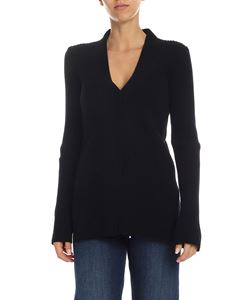 Alberta Ferretti - Black pullover with mother of pearl buttons