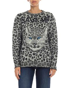 Alberta Ferretti - Animal print pullover in grey