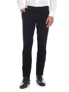 Incotex - Black diagonal fabric trousers
