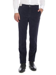 Incotex - Vintage effect trousers in blue