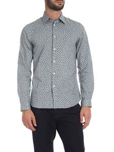 PS by Paul Smith - Camicia celeste con stampa floreale