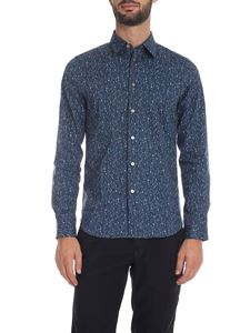 PS by Paul Smith - Camicia blu con stampa multicolor
