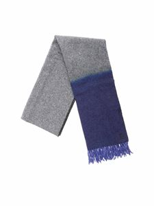 Dondup - Scarf in gray and blue harringbone