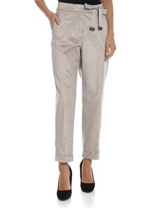 Peserico - Corduroy trousers in dove grey color