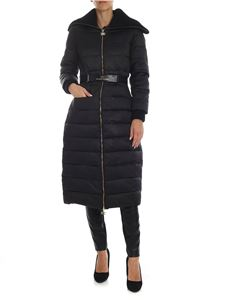 Elisabetta Franchi - Black down jacket with knitted details