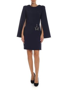 Elisabetta Franchi - Crepe dress in blue with star charm