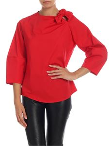 Stella Jean - Blouse with bow in red