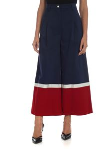 Stella Jean - Blue and red crop trousers