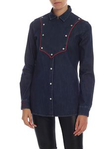 Stella Jean - Blue shirt with red details