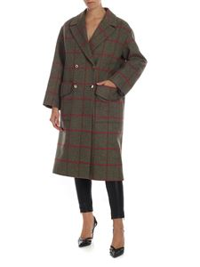Stella Jean - Checked print coat in green