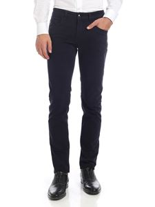Fay - Dark blue trousers with logo label