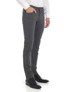 Fay - Grey trousers with logo label