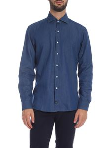 Fay - Denim blue color shirt