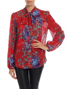 Semicouture - Floral printed shirt in red