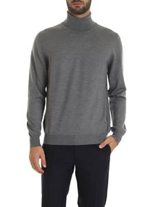 Fay - Turtleneck in dark gray with logo embroidery