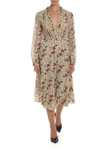Semicouture - Floral printed dress in ecru