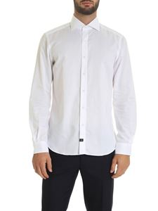 Fay - Shirt in white with logo label