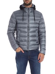 Herno - Resort down jacket in pearl gray with hood