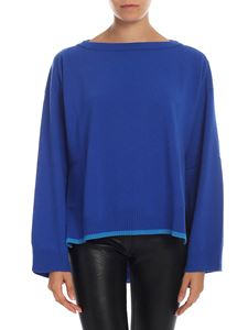 Semicouture - Bluette pullover with light blue details