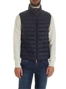 Save the duck - Sleevles down jacket in blue