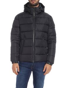 Save the duck - Down jacket in anthracite with logo patch