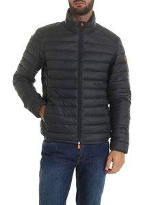 Save the duck - Down jacket in gray with logo patch