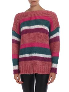 Semicouture - Pullover rosa a righe