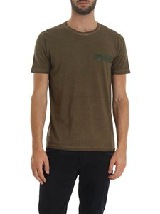 Dondup - Faded t-shirt in green with logo