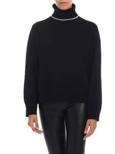 Semicouture - Black turtleneck with gray details