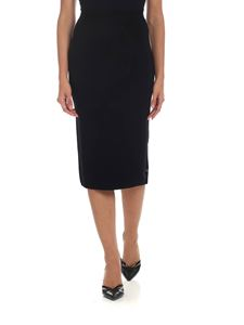 Semicouture - Black knitted pencil skirt