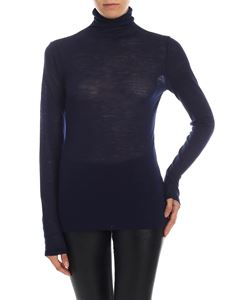 Semicouture - Turtleneck in blue jersey