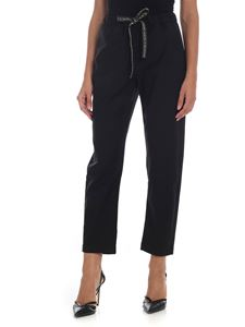 Semicouture - Black trousers with drawstring