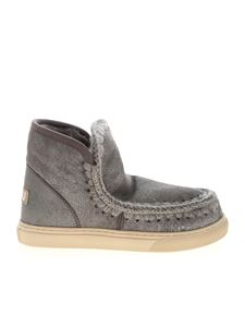 Mou - Eskimo laminated sneakers in gray