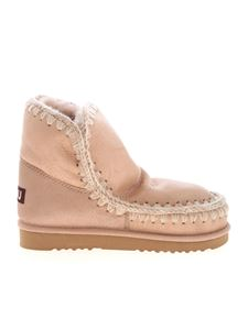 Mou - Eskimo 18 laminated ankle boots in pink